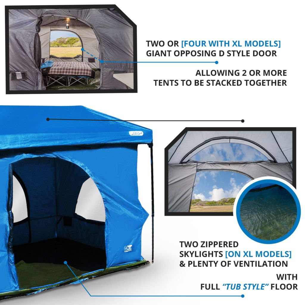 Standing Room PREMIUM Family Cabin Tent