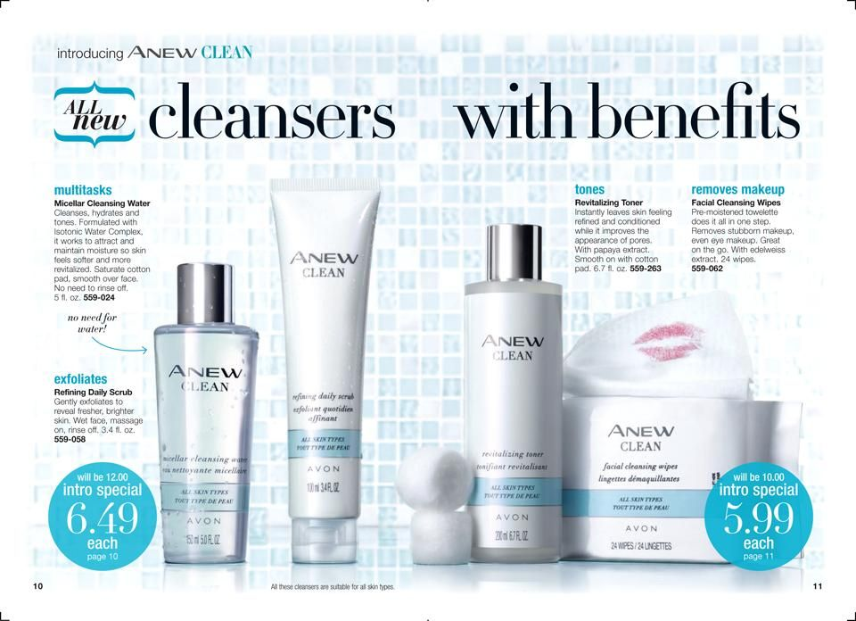 Online Brochure By Avon Avon Skin Care Facial Cleansing Wipes Skin Cleanser Products