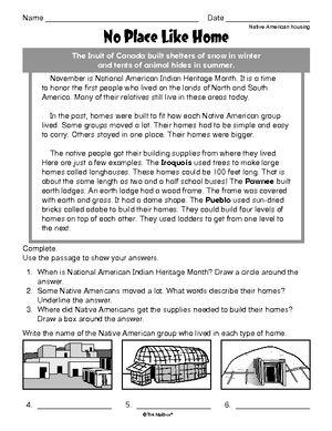 Worksheet Native American Housing Native Americans Study Social