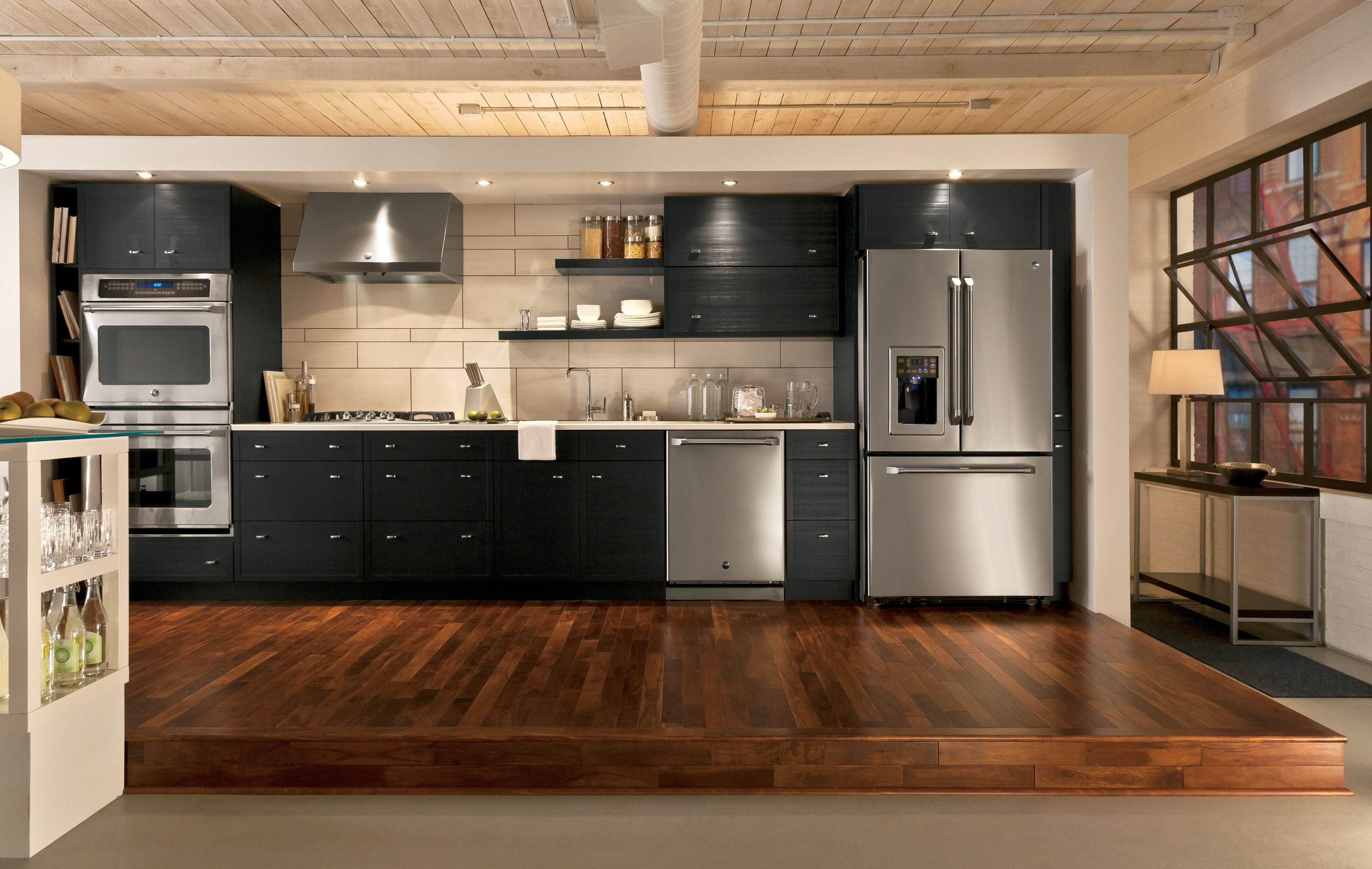 Nice GE Slate Appliances for Your Kitchen Design Ideas