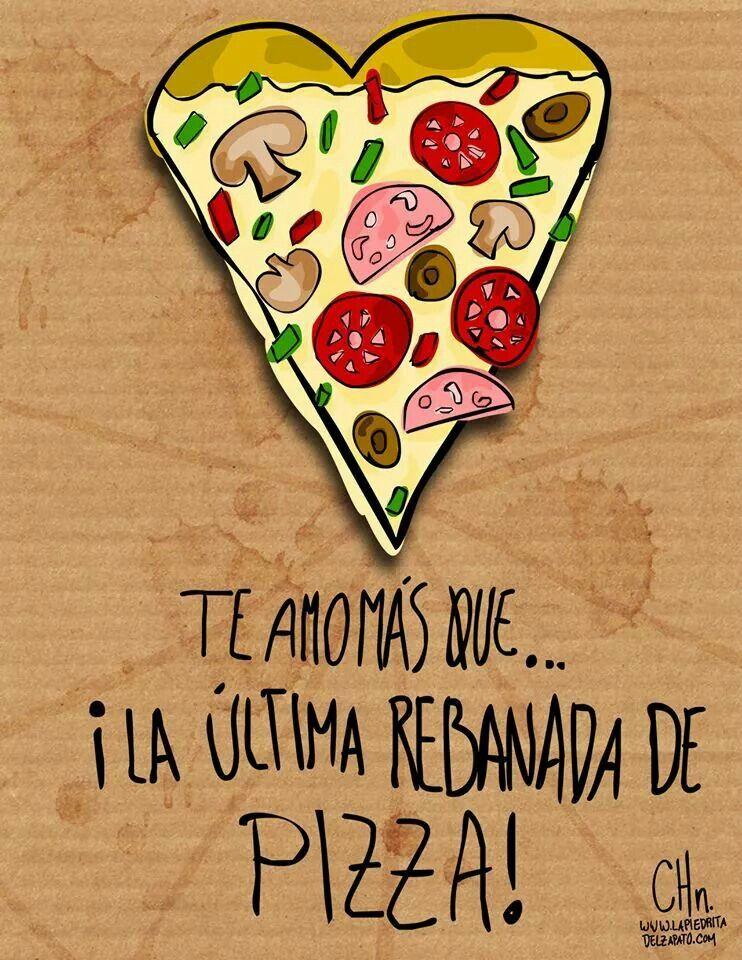 yo quiero comer una pizza