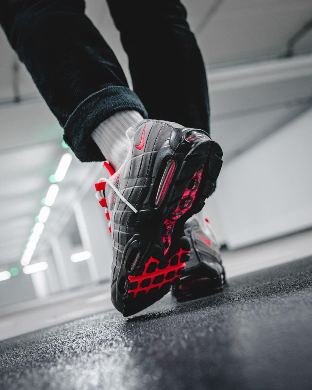 save off 1a259 7d60c Release Date  July 19, 2018 Nike Air Max 95 OG « Solar Red » Credit   Solebox — nike airmax airmax95 sneakerhead sneakersaddict sneakers  kicks ...