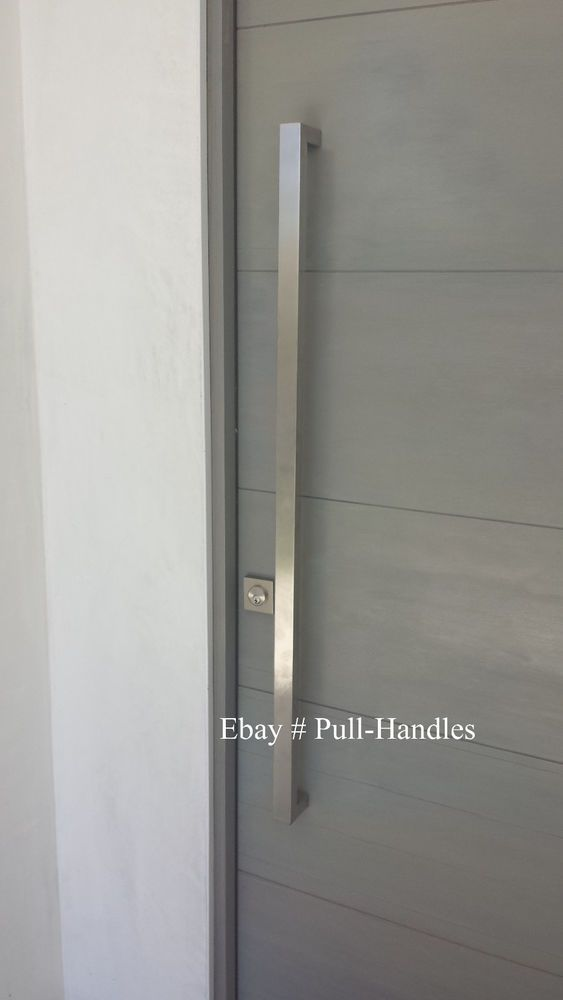 Entry Front Door Pull Square Handle Stainless Steel 36