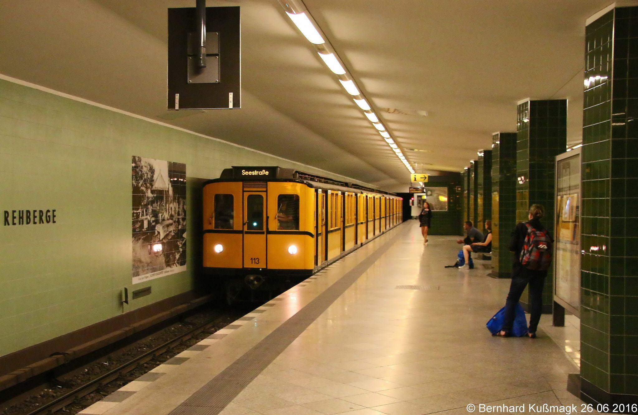Europa Deutschland Berlin Wedding U Bahnhof Rehberge U Bahn Linie U6 Underground Tube Ho Trains Underground