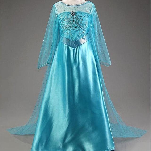 Frozen Elsa Anna Princess Girls Party Dress  Fancy Cosplay Kids Clothes Costumes