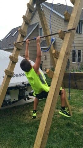 Kids Salmon Ladder In 2019 Backyard Obstacle Course