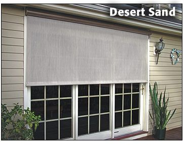 12 Foot Roll Up Shades Note The Actual Screen Width Is 4 In Less Than The Easyshade Width Exterior Solar Shade Solar Shades Exterior Shades
