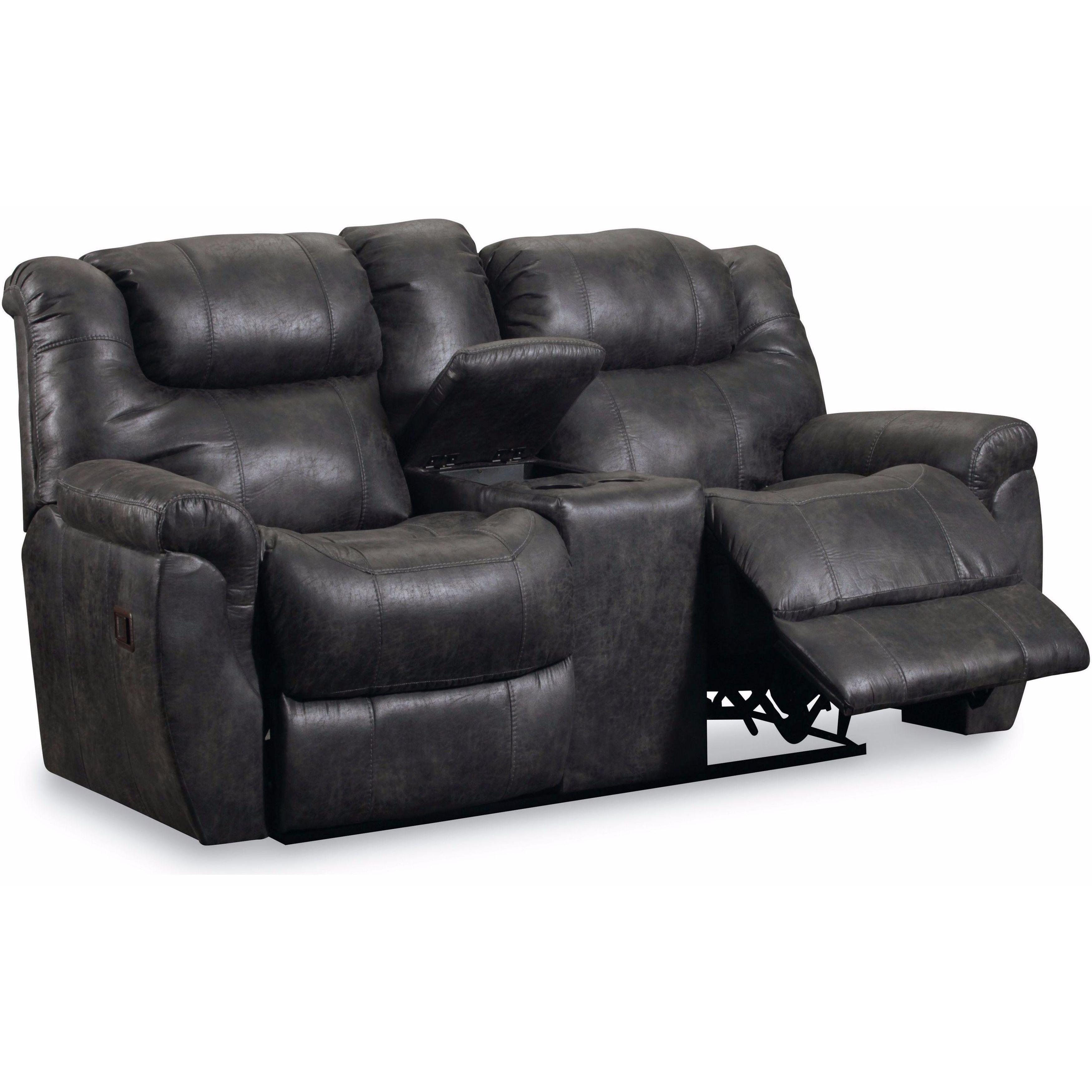 Lane Furniture Outlet #19 - Lane Furniture Summerlin Double Reclining Loveseat (Black) (Wood)