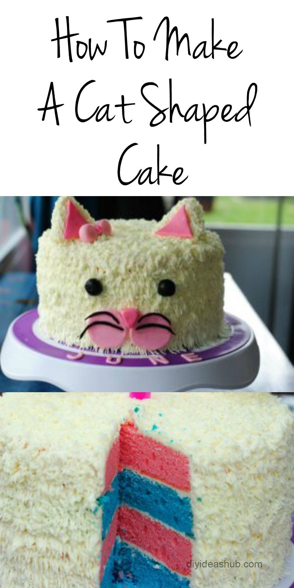 How To Make A Cat Shaped Cake Vanilla Birthday Cakes For