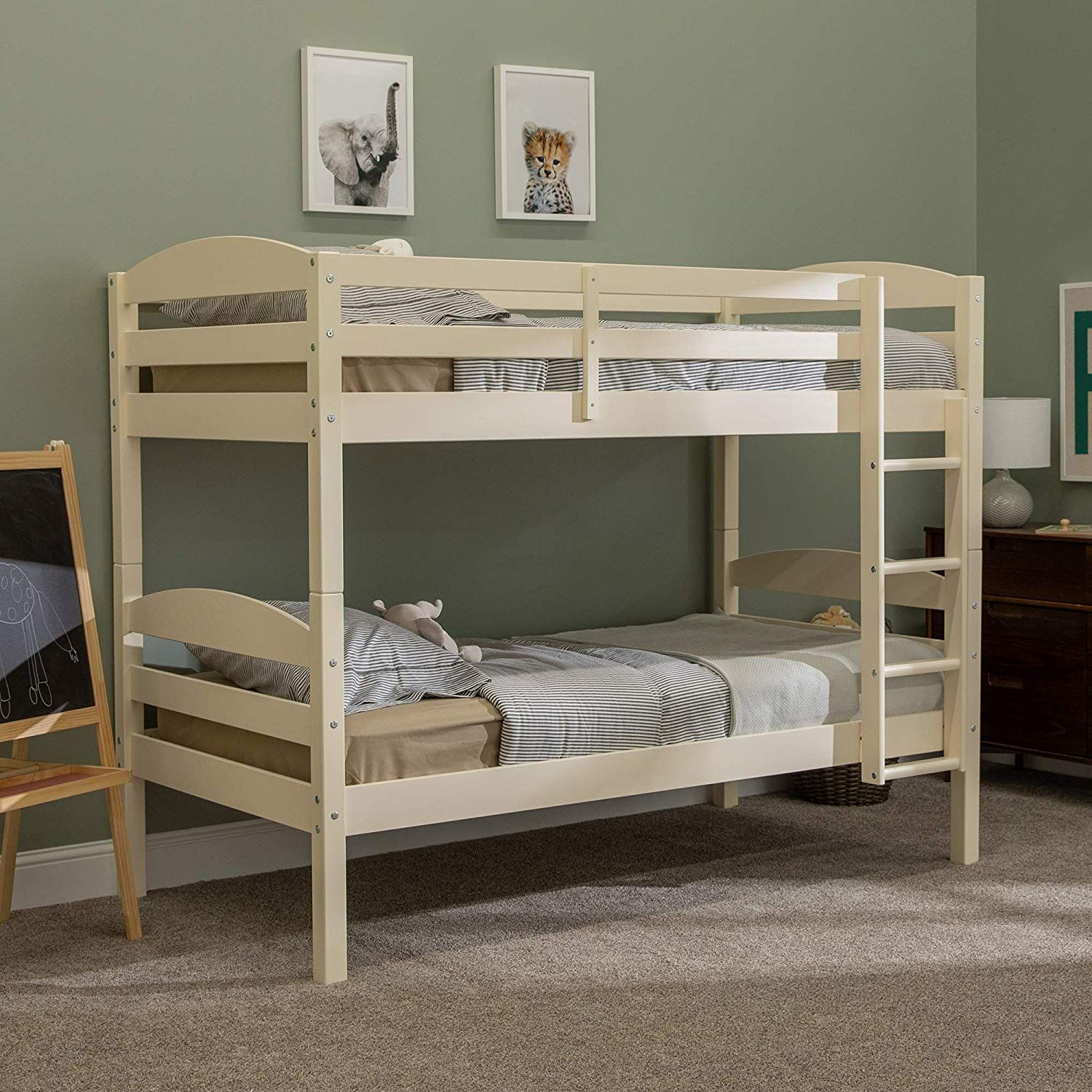 Best We Furniture Wood Twin Bunk Kids Bed Bedroom With Guard 400 x 300