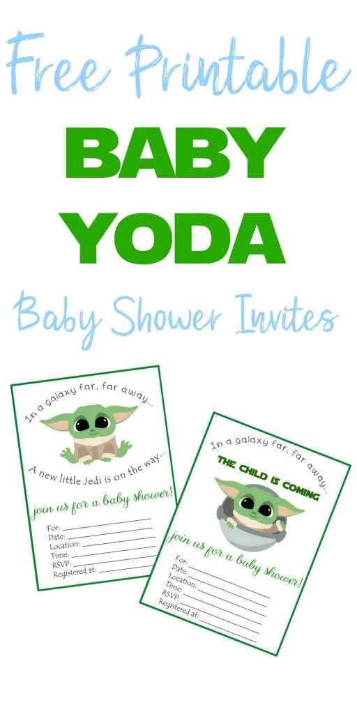 Free Printable Baby Yoda Invitations Star Wars Baby Shower Star Wars Baby Baby Shower Printables