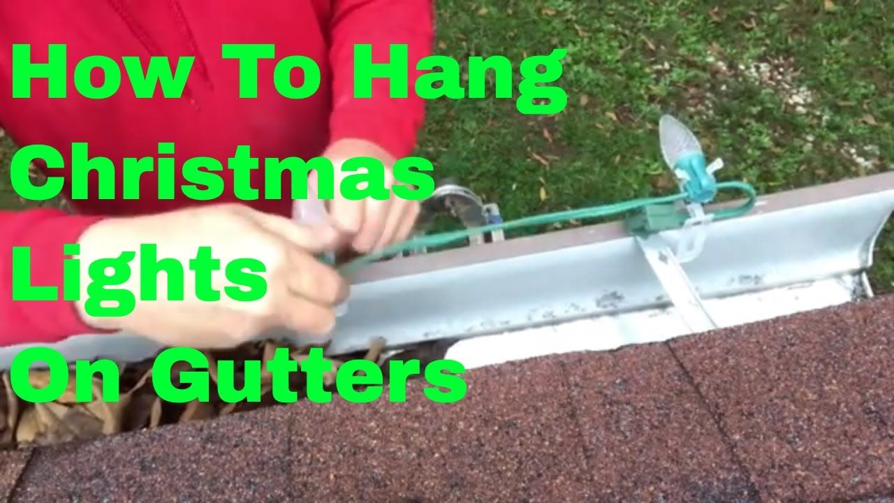 How To Install Christmas Lights On A Gutter Youtube With Images Christmas Lights Hanging Christmas Lights Installation
