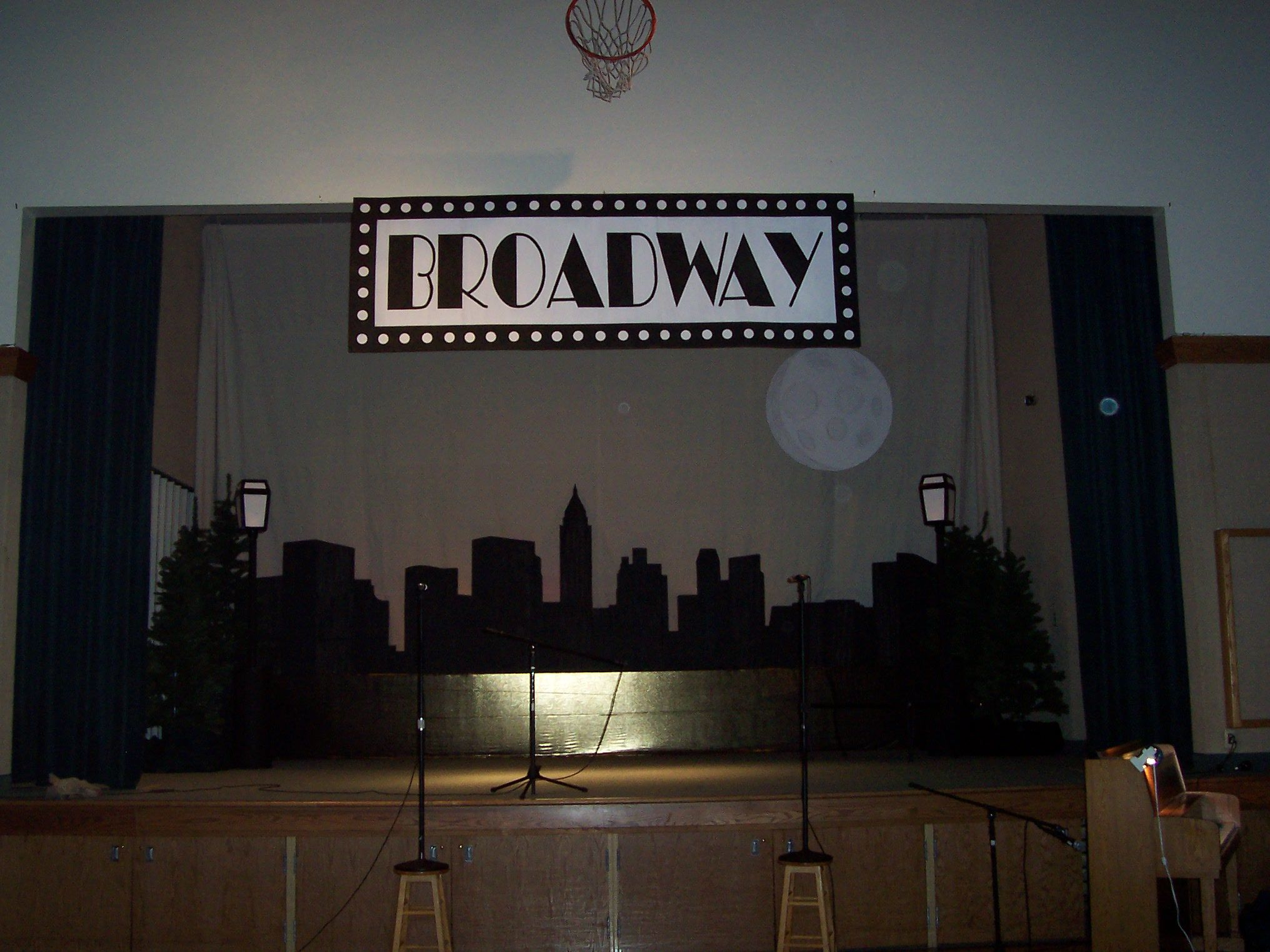 Diy Broadway Theme Stage Lots Of Cardboard Paint And