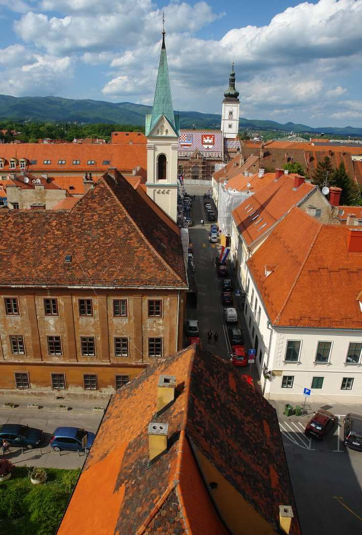 Zagreb Upper Town View From The Lotrscak Tower Croatia Croatia Zagreb City