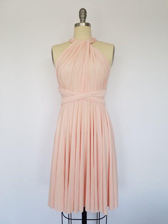 Erröten Rosa kurz Infinity Kleid Cabrio formale Mehrwege-Wrap ...