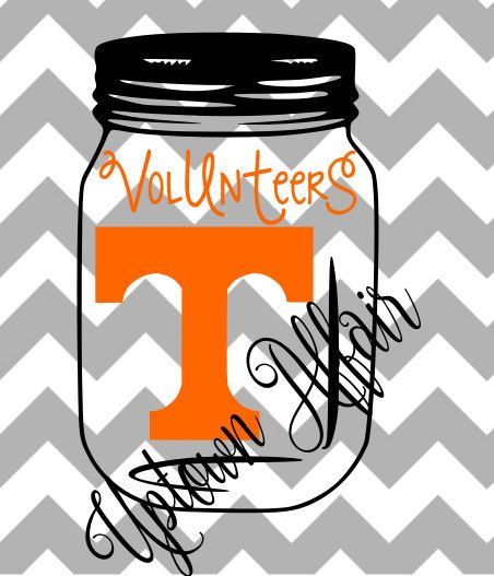 Tennessee Volunteers Mason Jar Multi Layer Svg By Uptownaffair Tennessee Volunteers Tennessee Party Stores