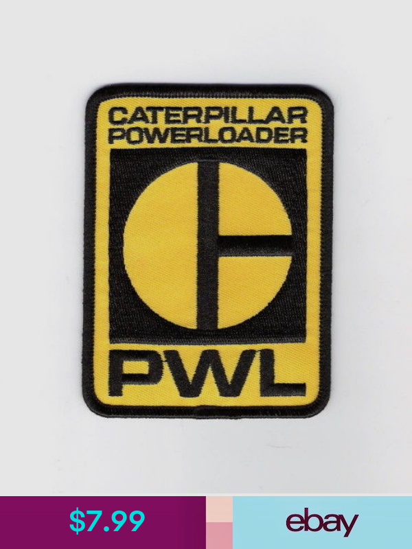 Aliens Movie Caterpillar Powerloader Logo Embroidered Patch New Unused Embroidered Patches Patch Logo Aliens Movie