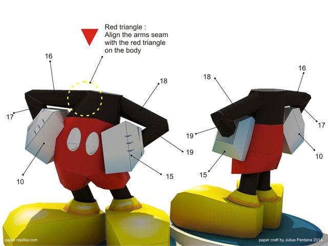 Mickey Mouse Paper Craft  Myszka Miki    Mickey Mouse