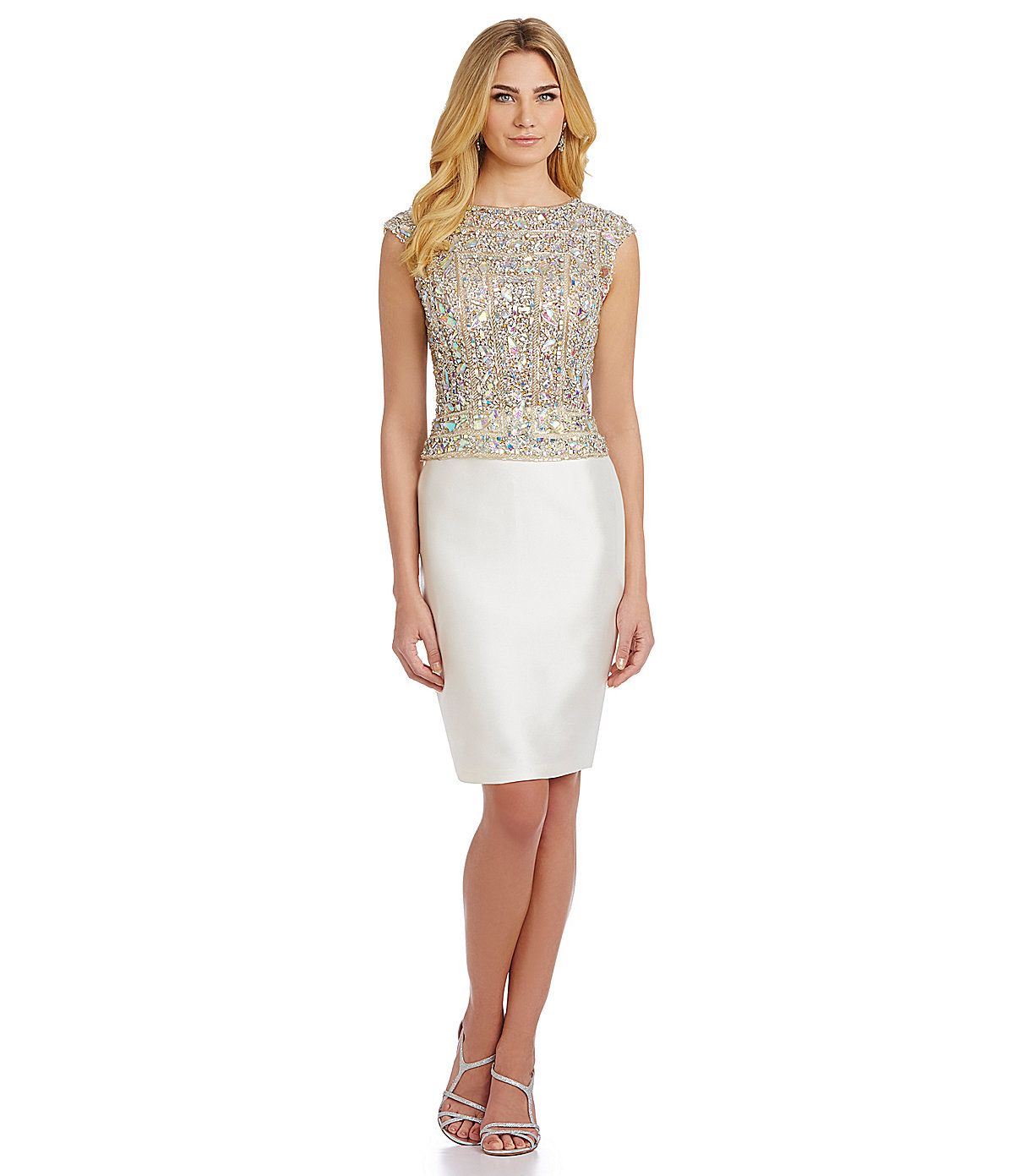 Terani Couture Beaded Cocktail Sheath Dress | Dillards.com