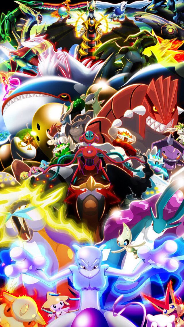 Legandaries Ipod Wallpaper Pokémon All Legendary Pokemon Cool