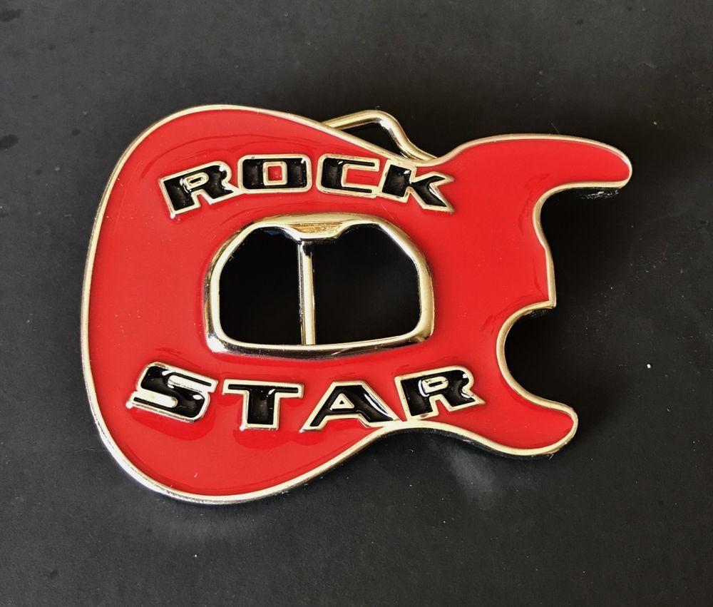 4e57652f712b Rock Star Band Guitars Music Cool Belt Buckle Boucle de Ceinture  guitar   redguitar