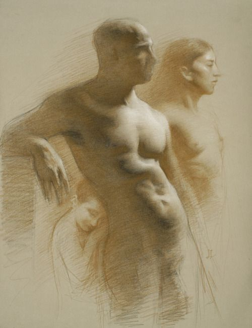 Juliette Aristides Olympus Sepia pencil and charcoal 22/18 ...