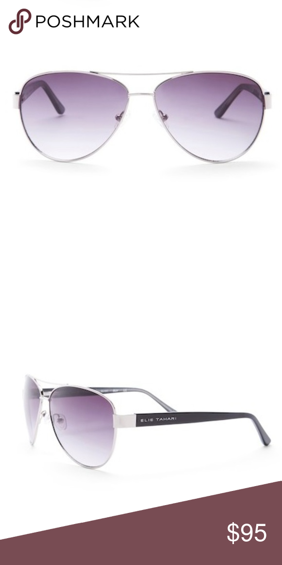 017cac16af6e Elie Tahari Aviator Sunglasses Elie Tahari Metal Aviator Sunglasses - Size   61-13-