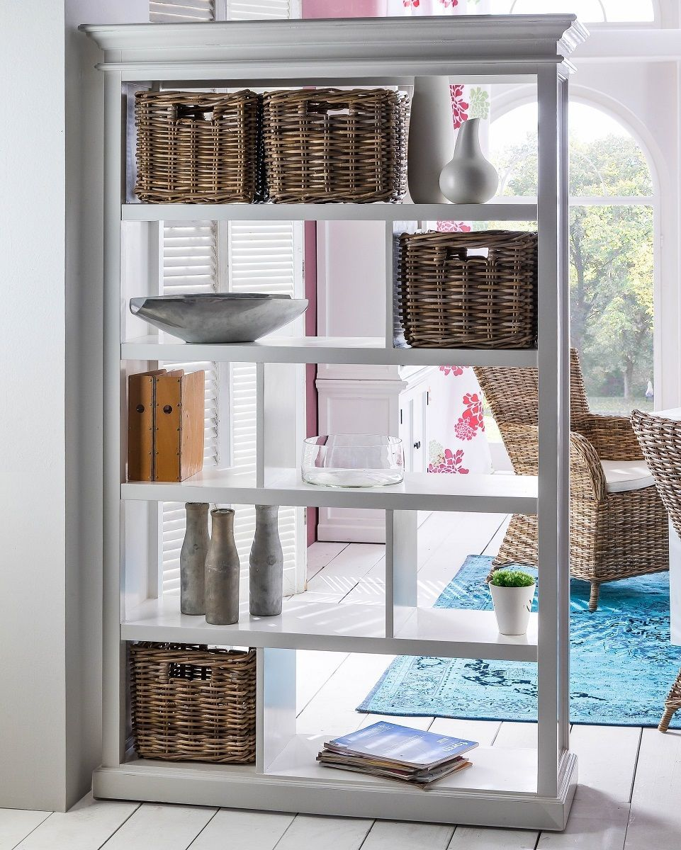 Halifax White Room Divider Shelving Unit With Rattan Baskets Ebay Room Divider Bookcase Wooden Room Dividers Room Divider Shelves