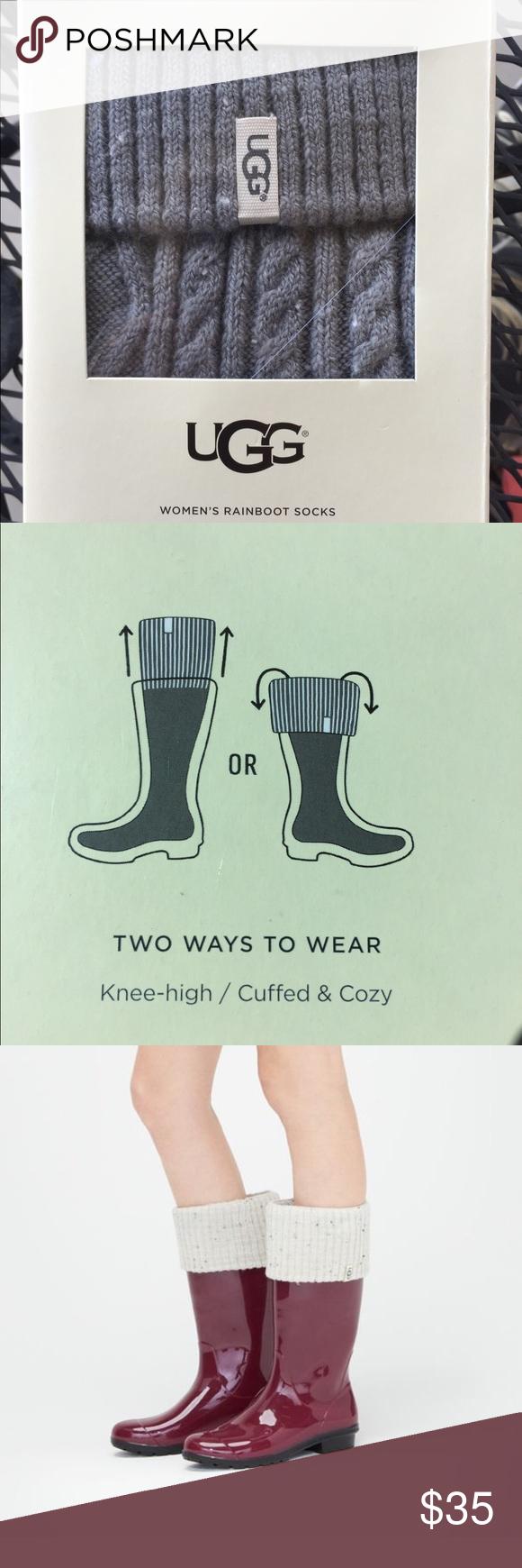 b517faa1eba New UGG Rain Boot Socks New UGG Boot Socks. Style- Shaye Tall. New ...