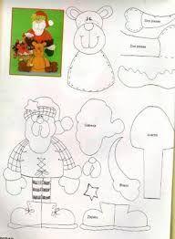 Resultado de imagen para moldes navideños papa noel