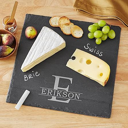 Make cheese lovers melt! With soapstone chalk to help identify different varieties, this elegant board makes a unique and artistic way to display and serve cheese.