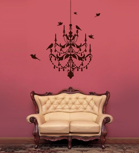 Chandelier Wall Decal LOVE Pinterest Wall Decals Walls And - Wall stickers for dining roomawesome dining room wall decals home design lover