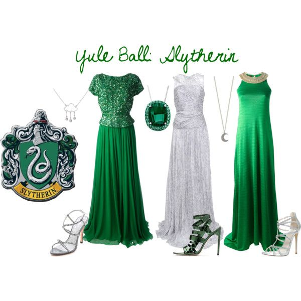 """""""Options For The Yule Ball: Slytherin"""" by imperfectionxoxo15 on Polyvore"""