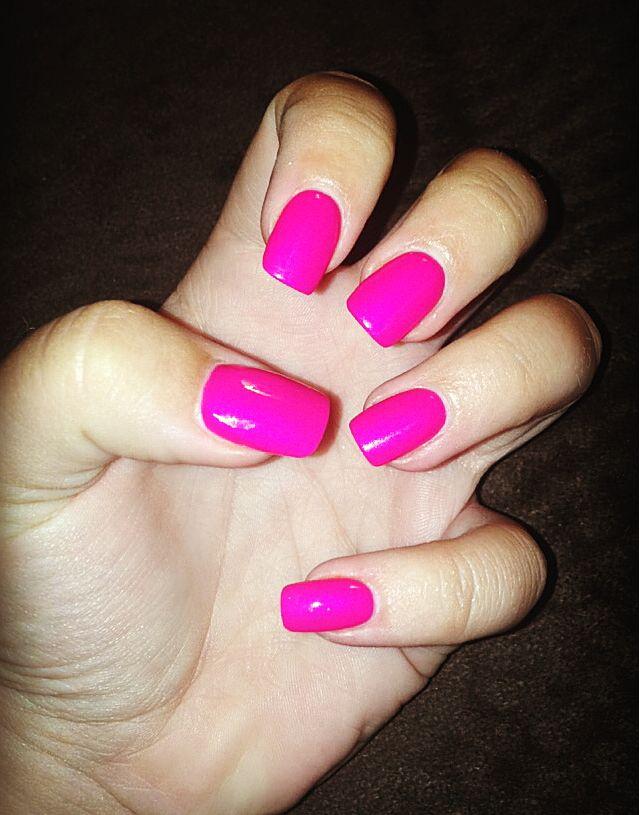 PINK nails. Pink acrylic nails. Acrylic nails. Square nails. Square ...