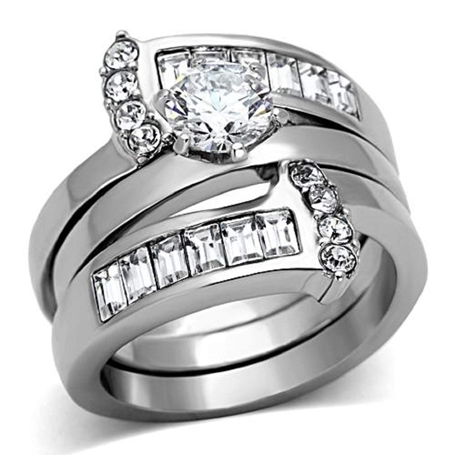 13++ Stainless steel wedding rings sets information