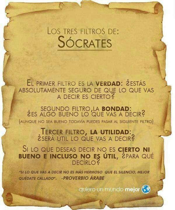 Los tres filtros de Sócrates.