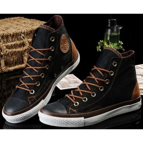 2fac3d0be687 Converse Shoes Black Chuck Taylor Vampire Mens Womens Canvas   Leather Hi  Sneakers