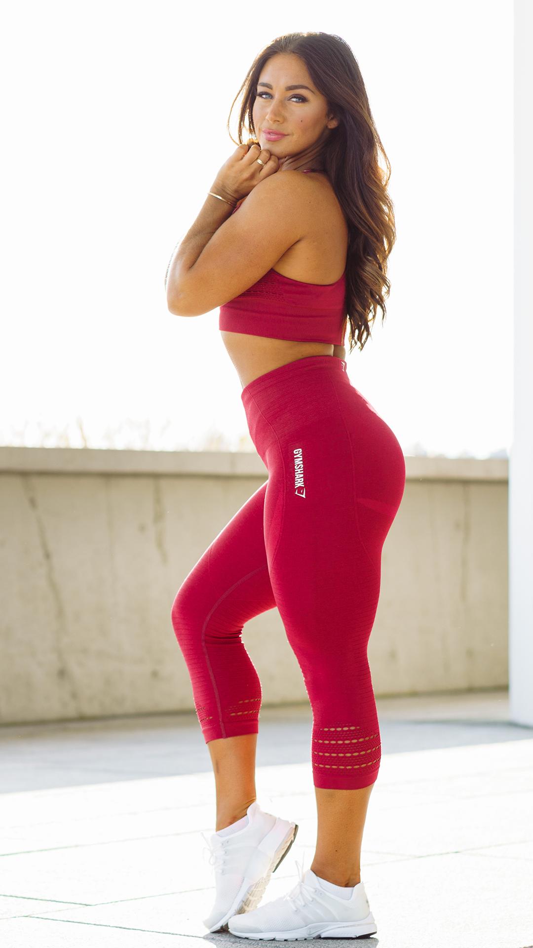 Berry babe. Hanna rocks the Energy Seamless. Gymshark