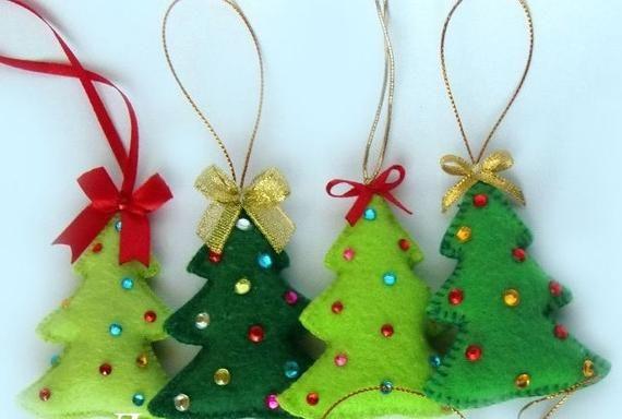 Felt Christmas Tree Christmas tree ornament felt o