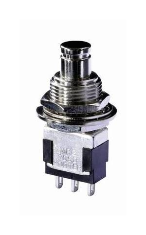 Bouton poussoir à pression Knitter-Switch MPG 106F MPG 106F 250 V/AC 3 A 1 x On/(Off) à rappel 1 pc(s) Donnees techniques : Connexion (composants) : plot à souder Contenu : 1 pc(s) Couleur boîtier/bouton : métal Courant de commutation (max.) : 3 A Diamètre de montage : 12.5 mm Fonctions (interrupteur/bouton) : à rappel Position de commutation : 1 x On/(Off) Température (max.) : +140 °C Température (min.) : -45 °C Tension de commutation : 250 V/AC Type (type fabricant) : MPG 106F Type d'éclairage