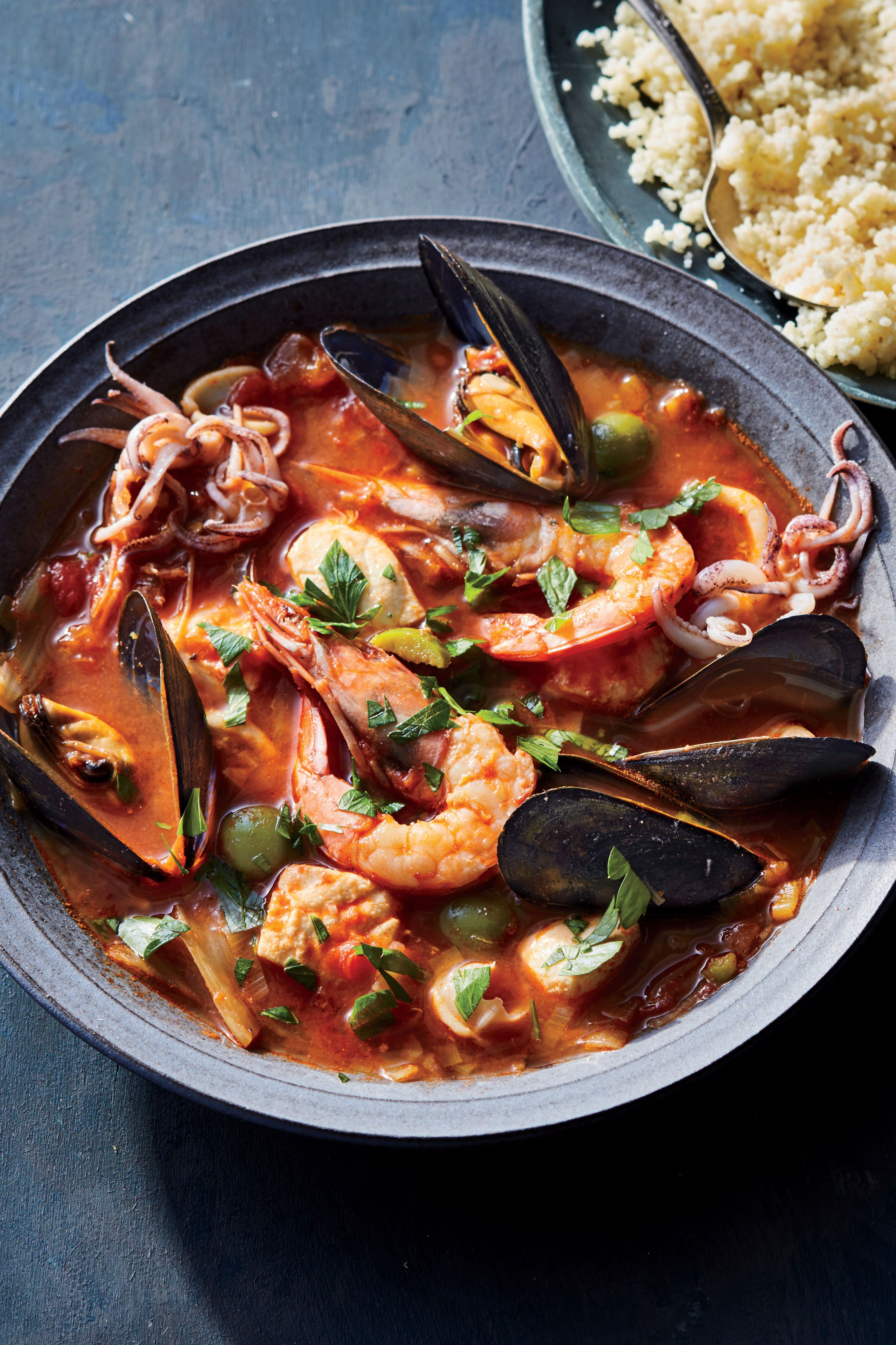Sicilian Seafood Stew with Couscous