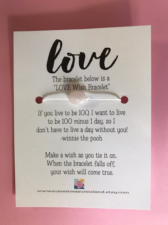 Love Wish Bracelet Card Make A Wish Wishing To Find Love Card
