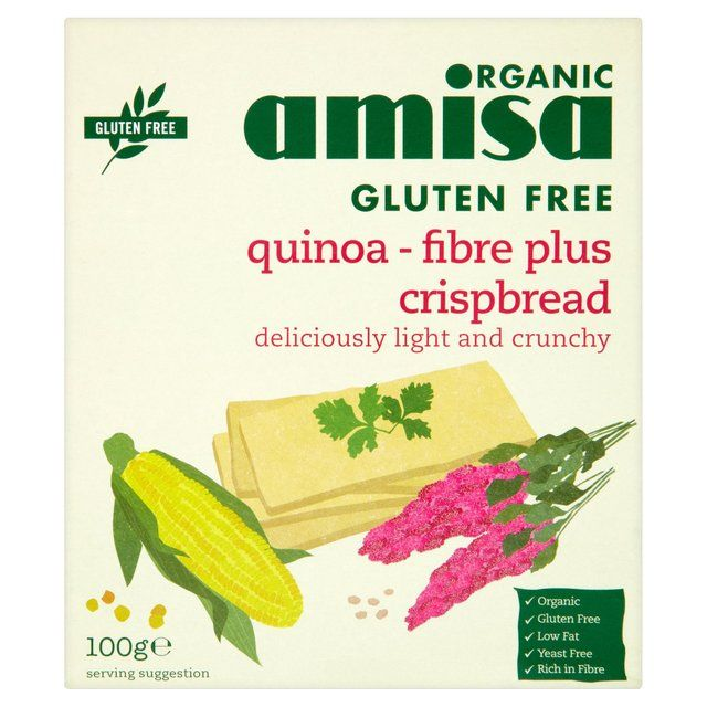 Crispbread || Gluten Free Quinoa-Fibre Plus- Deliciously Light & Crunchy