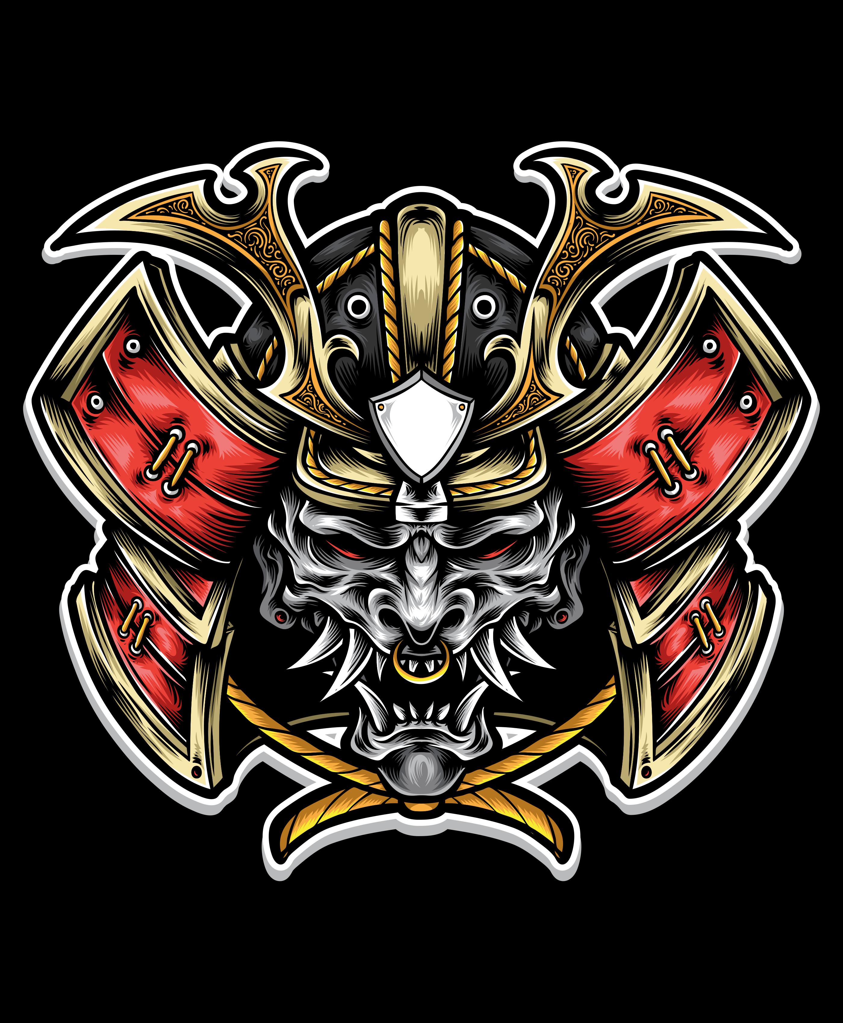 Oni Mask Samurai Samurai Warrior Tattoo Samurai Armor Samurai Mask Tattoo