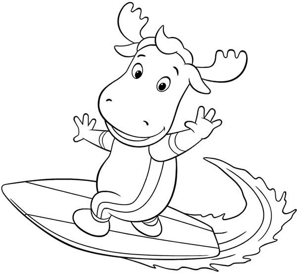 Tyrone Is Great Surfer In The Backyardigans Coloring Page Kids Play Color In 2020 Nick Jr Coloring Pages Coloring Pages Dora And Friends