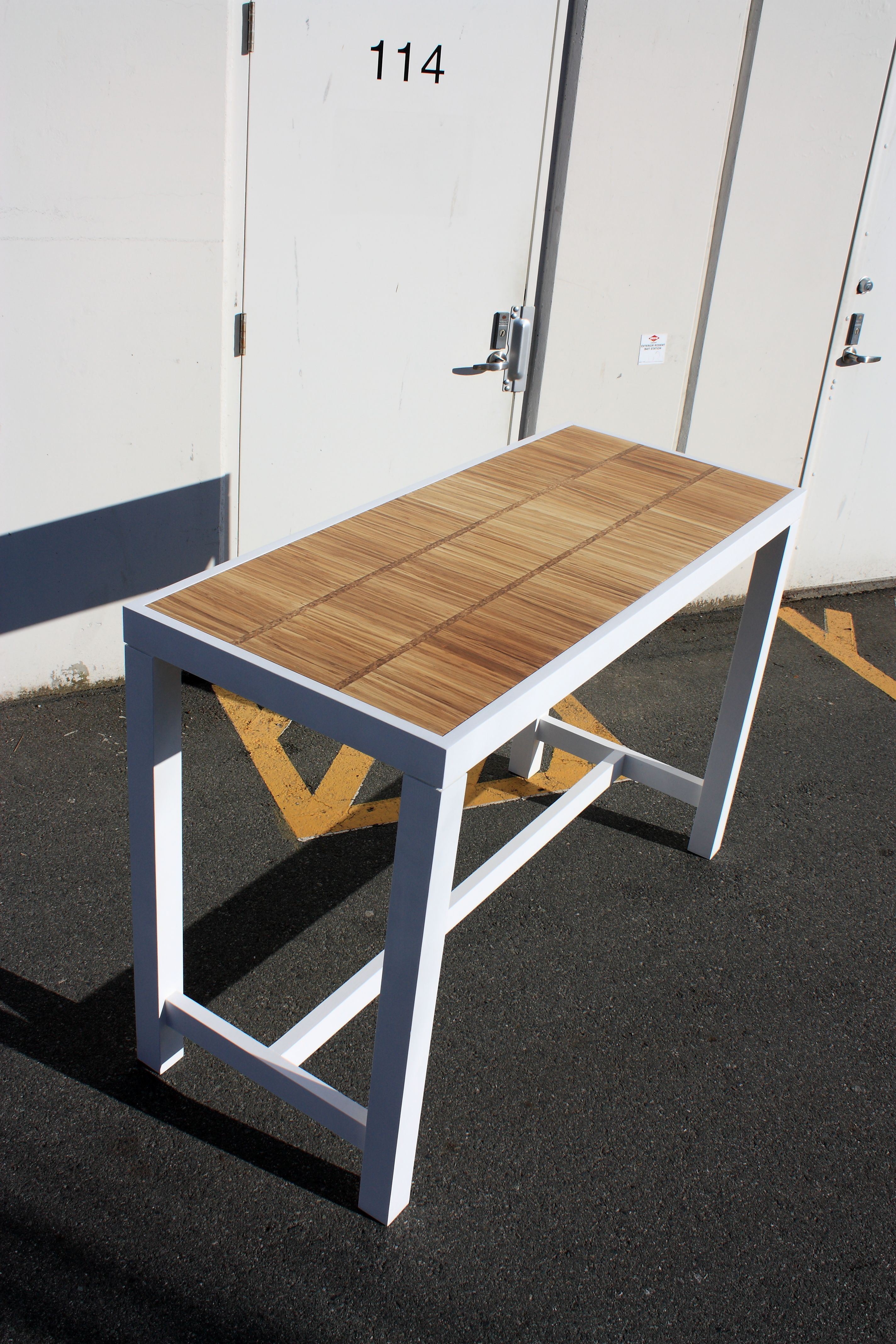 Bar table Canpaza Frame and bottom made out of white painted solid ...