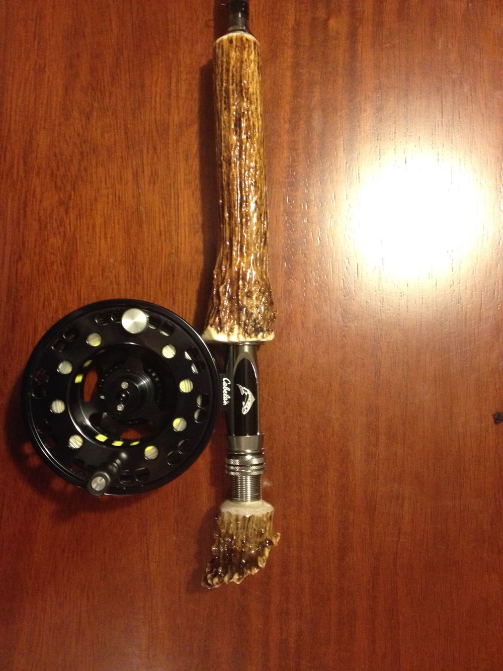 Bone Handle 10 Wt Alaska Fly Rod I Have Some Antlers Might Have To Try This Fly Rods Fly Fishing Custom Rods