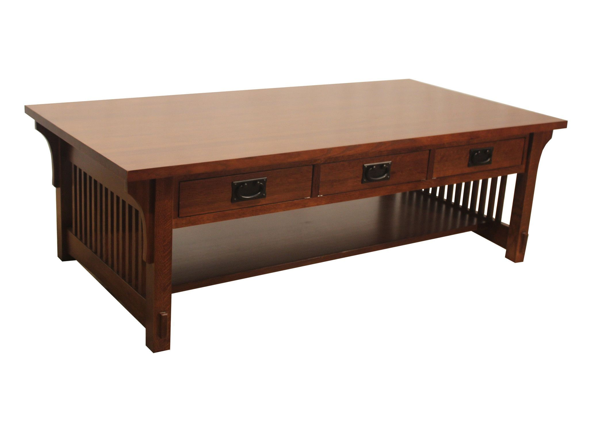 Arts And Crafts / Mission Crofter Coffee Table With Spindles