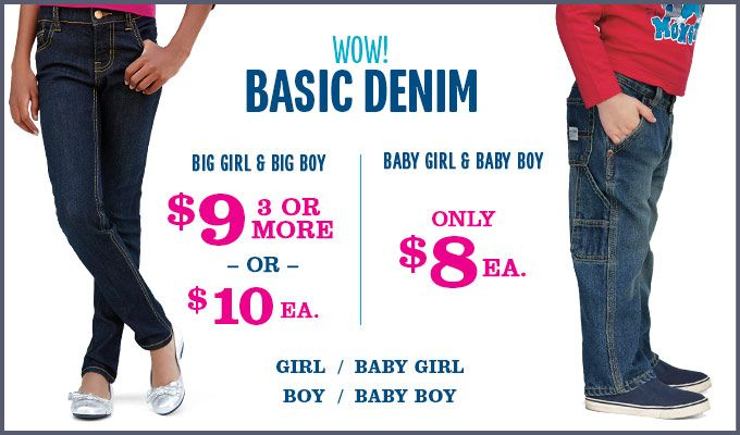 *Last Day* Buy 3 Pairs of Jeans from Children's Place for $22.95 or get baby sizes for $20.40 - http://www.pinchingyourpennies.com/last-day-buy-3-pairs-jeans-childrens-place-22-95-get-baby-sizes-20-40/ #Childrensplace, #Couponcode, #Pinchingyourpennies