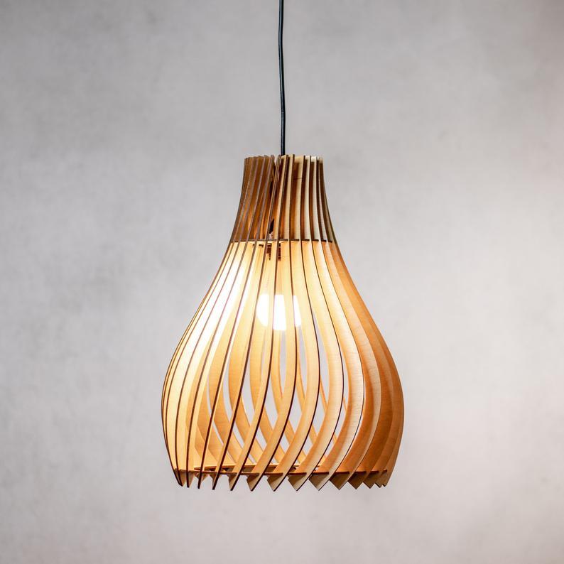 Modern Pendant Light For Kitchen Island Living Room Dining Room And Bedroom Pendant Light Wood Pendant Light Modern Pendant Light